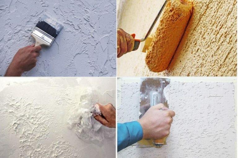 как сделать декоративную штукатурку на стене